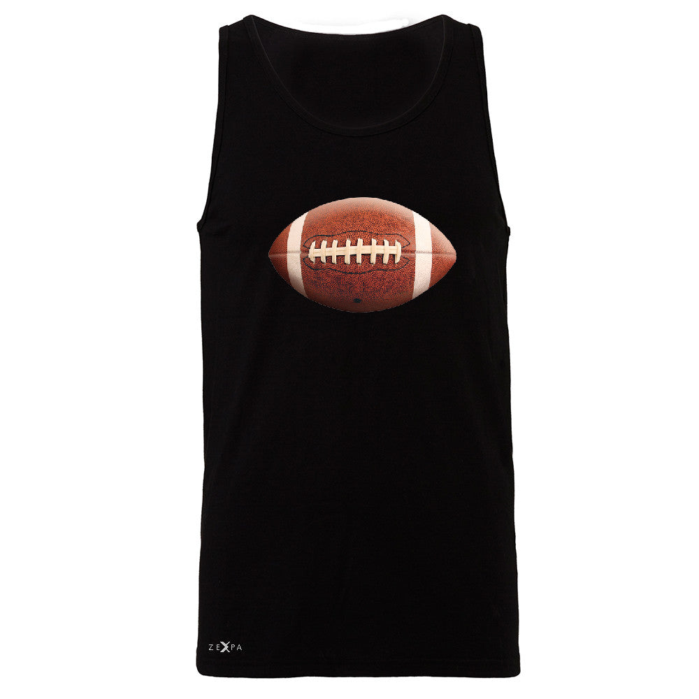Real 3D Football Ball Men's Jersey Tank Football Cool Embossed Sleeveless - Zexpa Apparel - 1