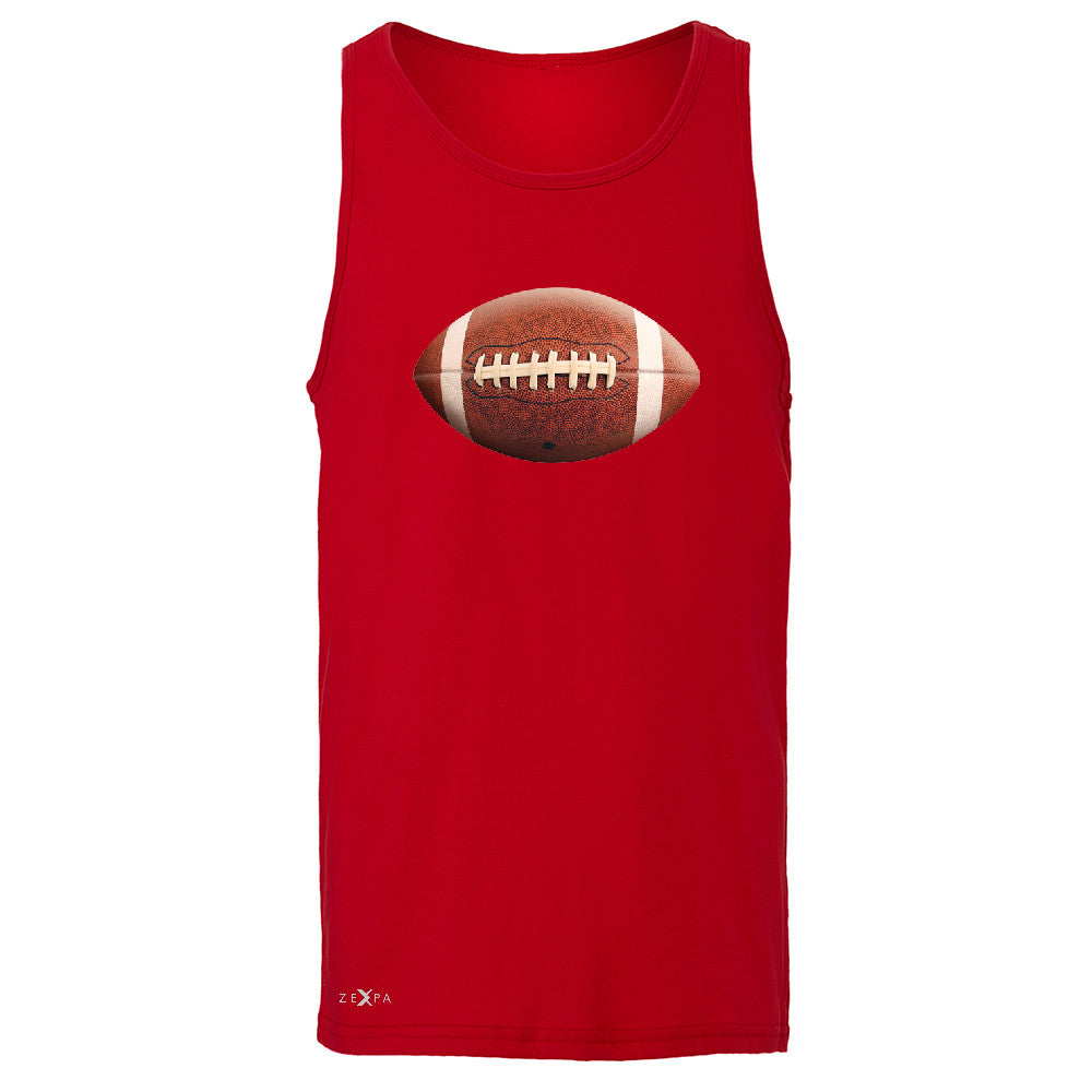 Real 3D Football Ball Men's Jersey Tank Football Cool Embossed Sleeveless - Zexpa Apparel - 4