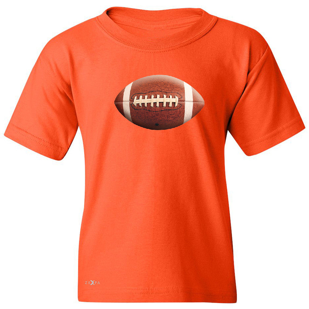 Real 3D Football Ball Youth T-shirt Football Cool Embossed Tee - Zexpa Apparel - 2