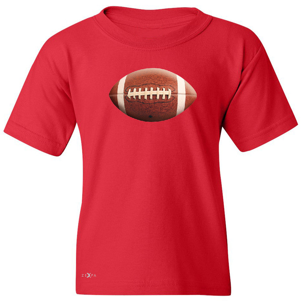 Real 3D Football Ball Youth T-shirt Football Cool Embossed Tee - Zexpa Apparel - 4