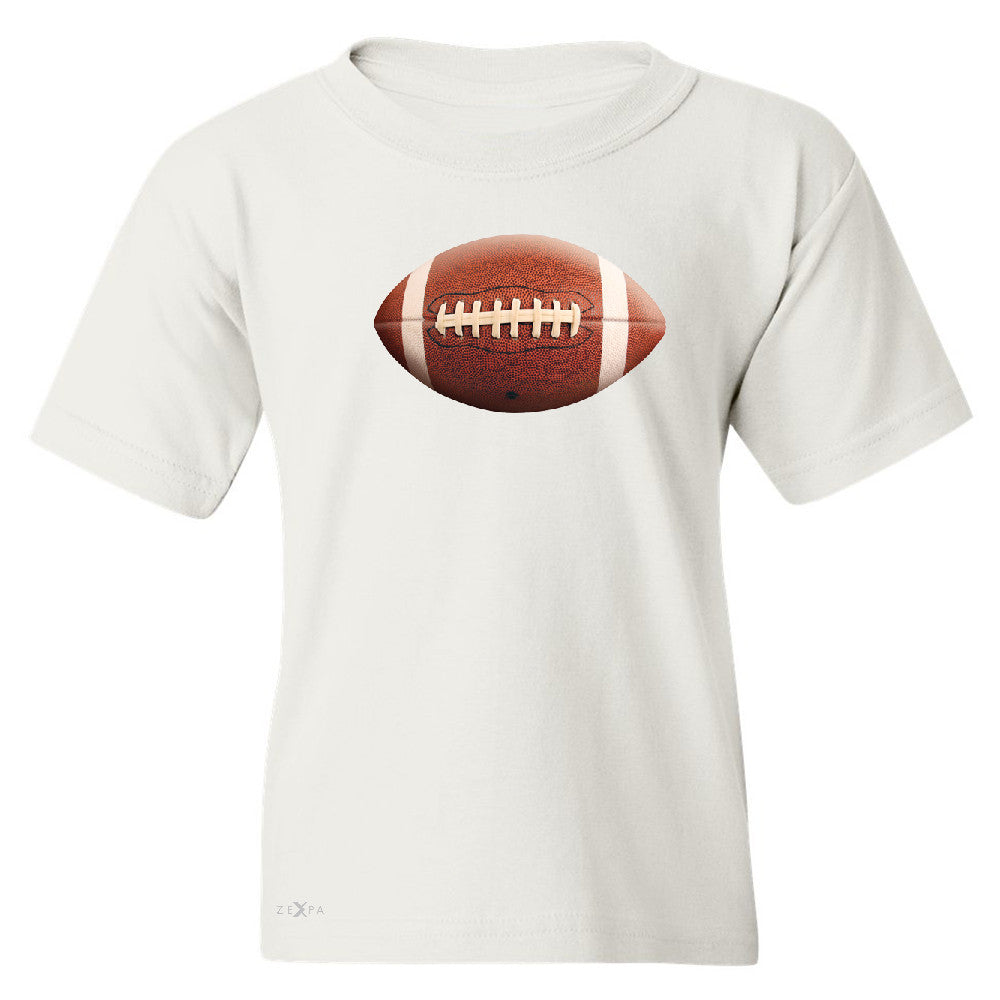 Real 3D Football Ball Youth T-shirt Football Cool Embossed Tee - Zexpa Apparel - 5