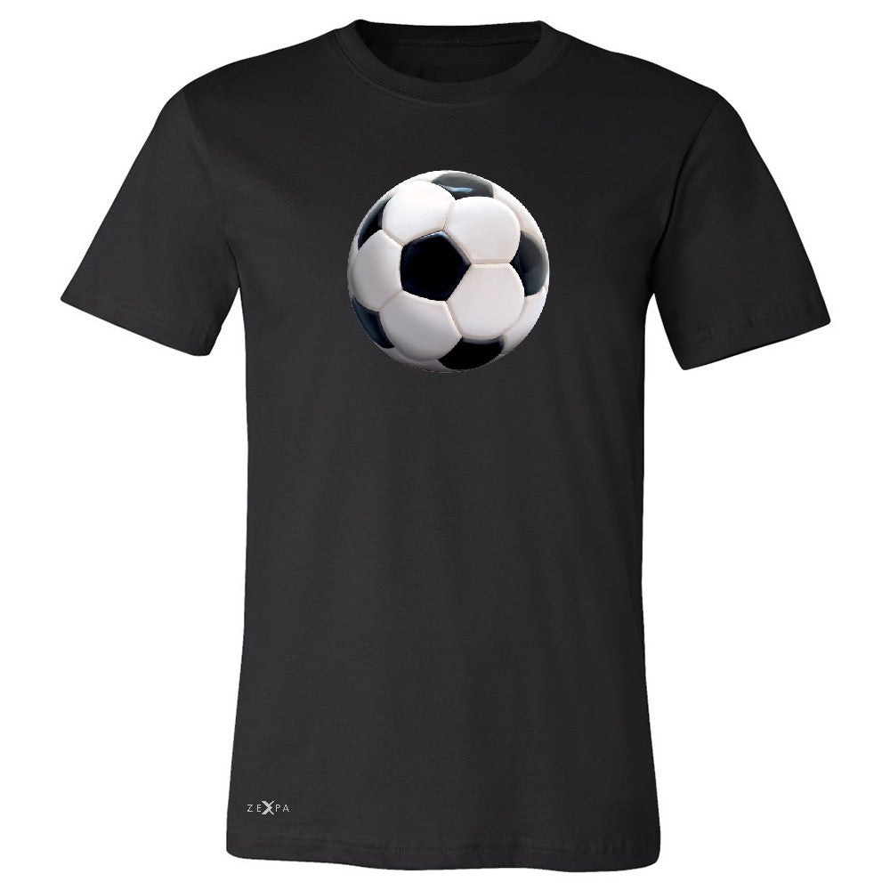 Real 3D Soccer Ball Men's T-shirt Soccer Cool Embossed Tee - Zexpa Apparel - 1