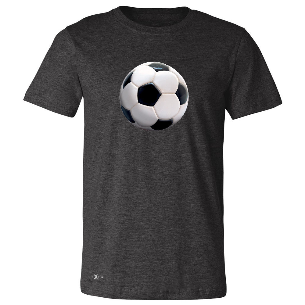 Real 3D Soccer Ball Men's T-shirt Soccer Cool Embossed Tee - Zexpa Apparel - 2