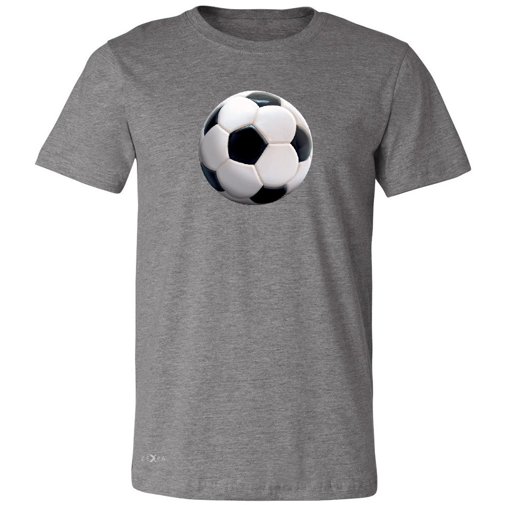 Real 3D Soccer Ball Men's T-shirt Soccer Cool Embossed Tee - Zexpa Apparel - 3