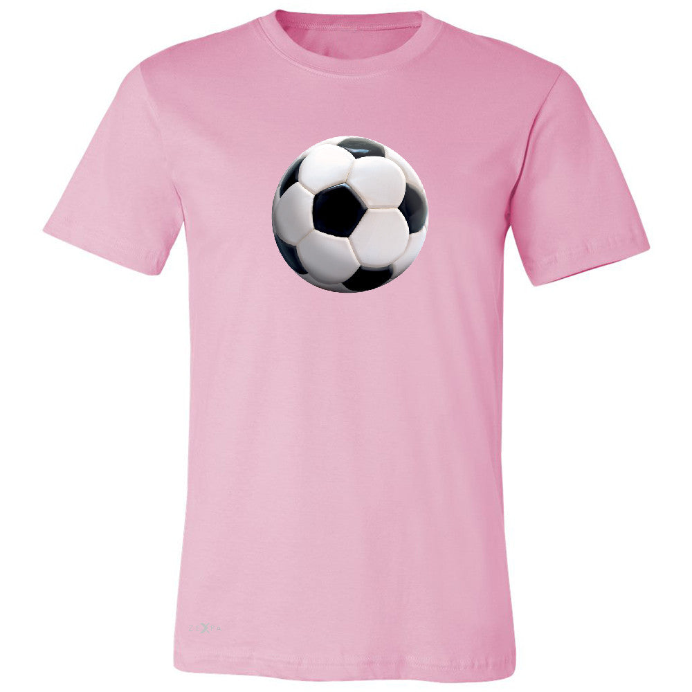 Real 3D Soccer Ball Men's T-shirt Soccer Cool Embossed Tee - Zexpa Apparel - 4