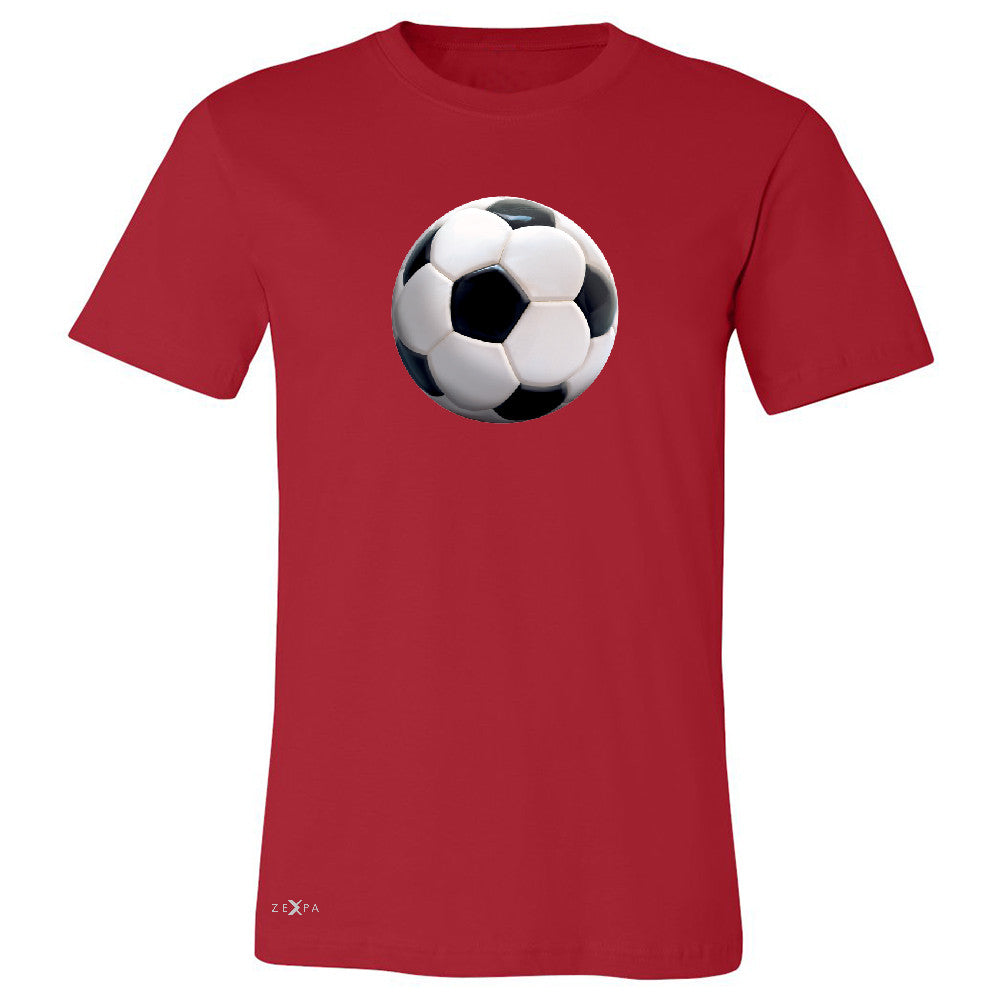 Real 3D Soccer Ball Men's T-shirt Soccer Cool Embossed Tee - Zexpa Apparel - 5