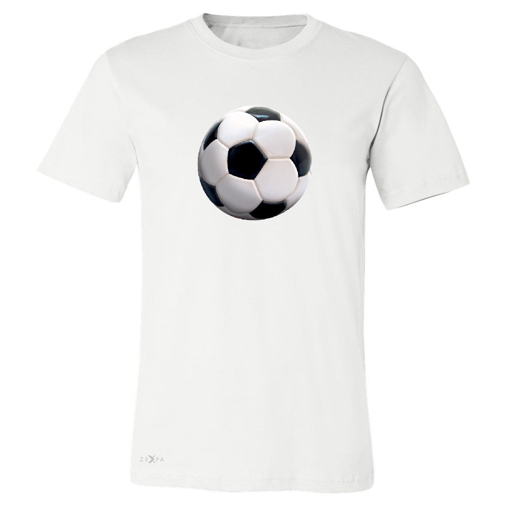 Real 3D Soccer Ball Men's T-shirt Soccer Cool Embossed Tee - Zexpa Apparel - 6