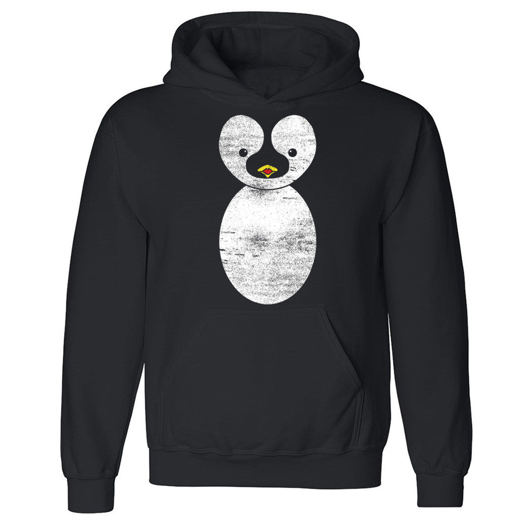 "Zexpa Apparelâ""¢ Cute Penguin Unisex Hoodie Whole Garment Print Funny Animal Hooded Sweatshirt"