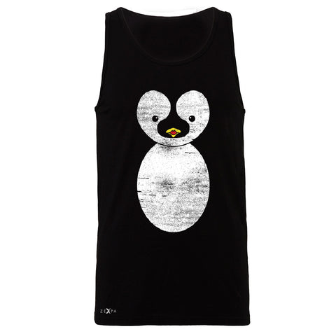 Cute Penguin  Men's Jersey Tank Graphic Cutest Animal Sleeveless - Zexpa Apparel Halloween Christmas Shirts