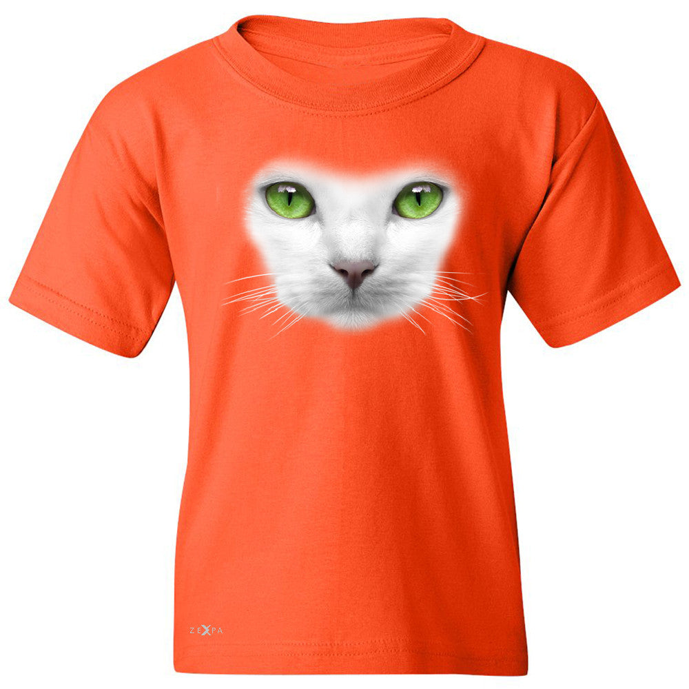 Elegant Cat with Green Eyes Youth T-shirt Beautiful Look Tee - Zexpa Apparel - 2