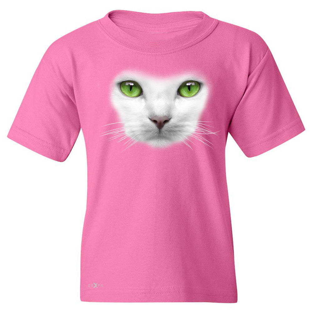 Elegant Cat with Green Eyes Youth T-shirt Beautiful Look Tee - Zexpa Apparel - 3