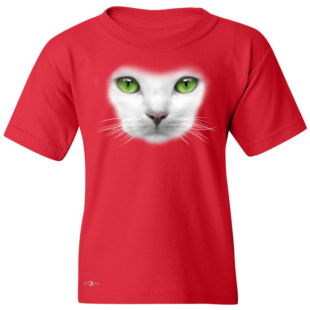 Elegant Cat with Green Eyes Youth T-shirt Beautiful Look Tee - Zexpa Apparel - 4