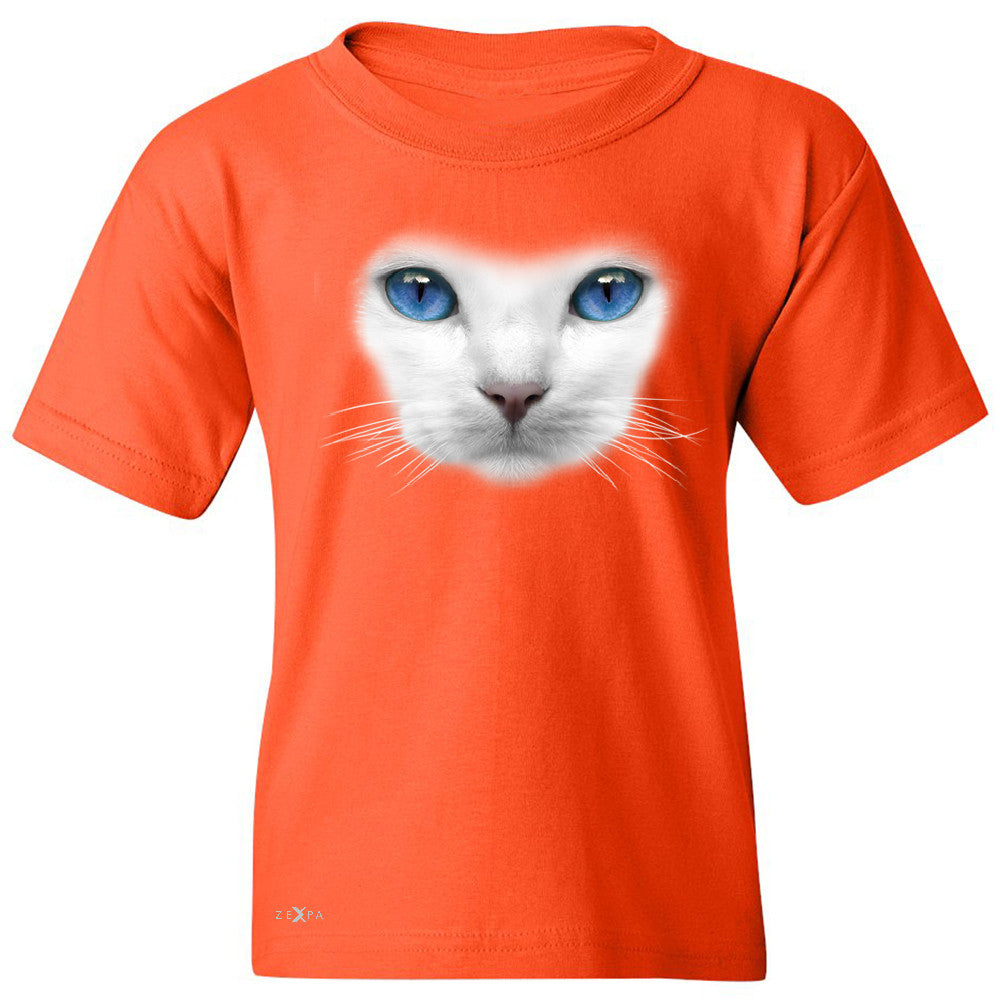 Elegant Cat with Blue Eyes Youth T-shirt Beautiful Look Tee - Zexpa Apparel - 2
