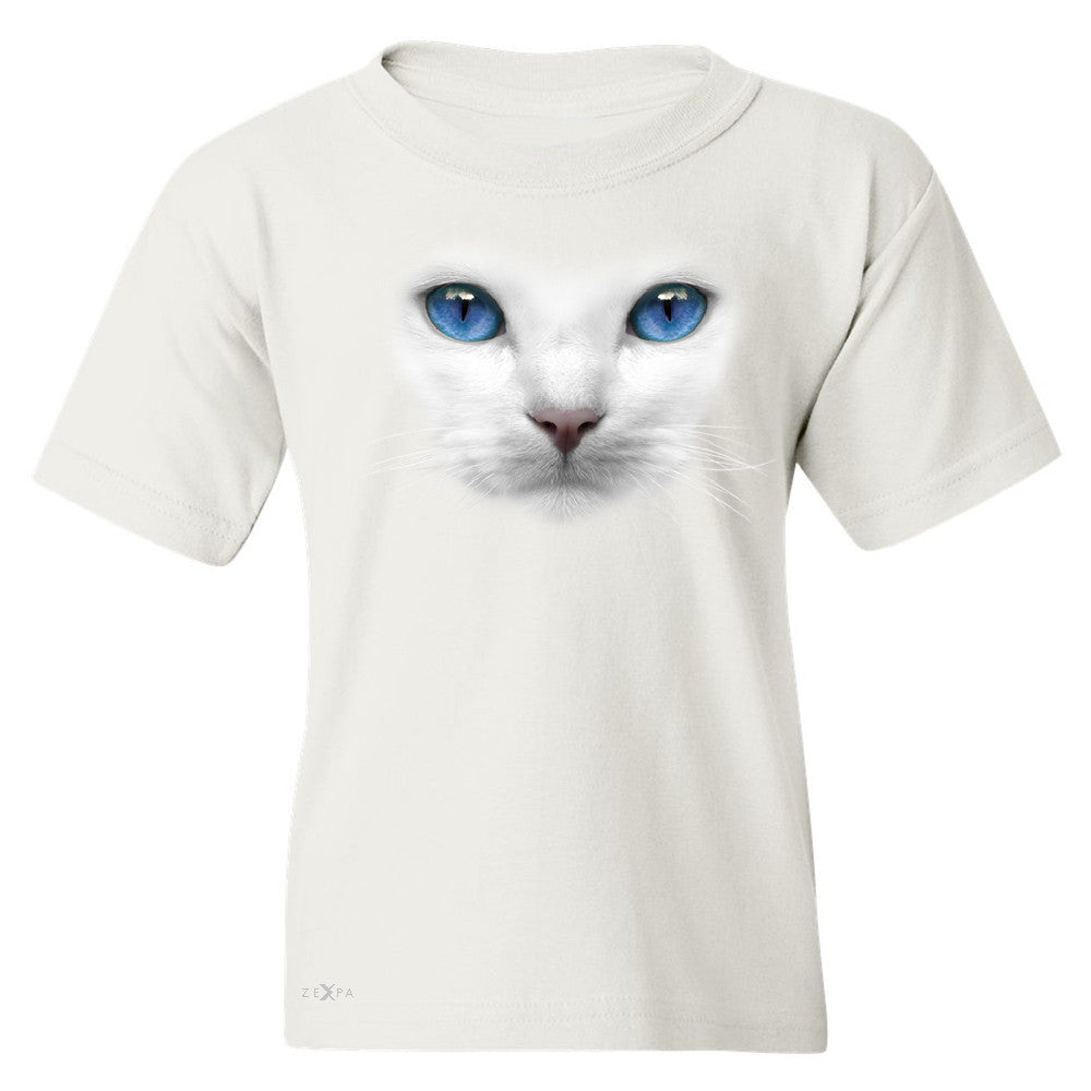 Elegant Cat with Blue Eyes Youth T-shirt Beautiful Look Tee - Zexpa Apparel - 5