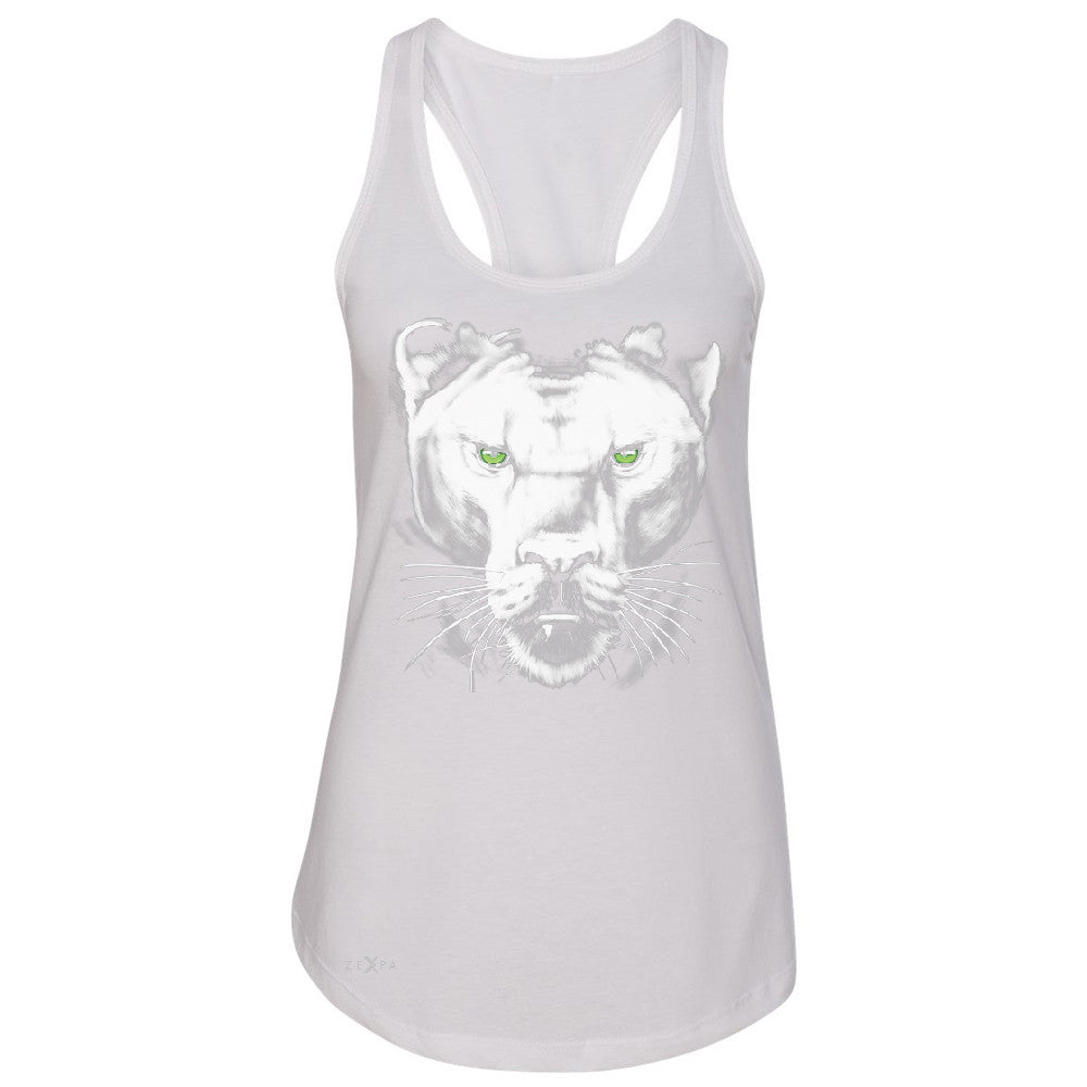 Majestic Panter with Green Eyes Women's Racerback Wild Animal Sleeveless - Zexpa Apparel - 4