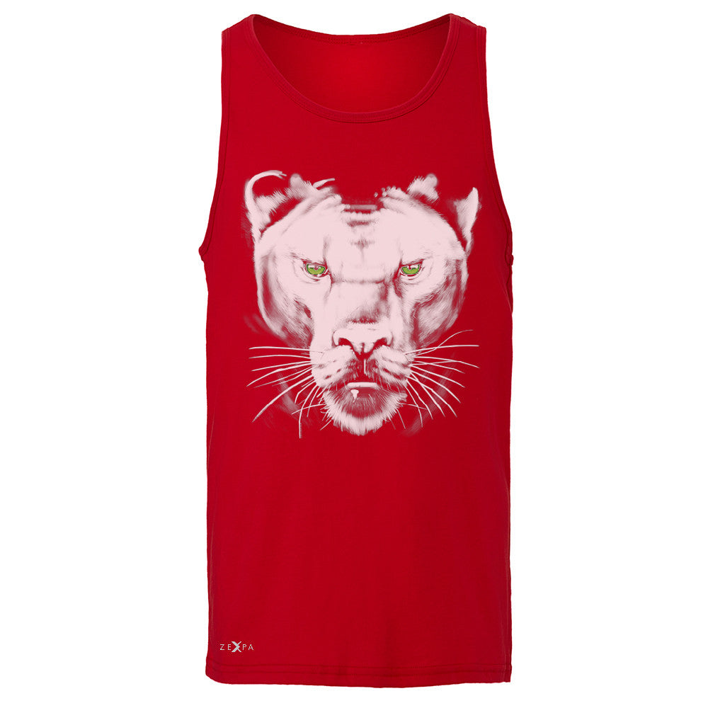 Majestic Panter with Green Eyes Men's Jersey Tank Wild Animal Sleeveless - Zexpa Apparel - 4