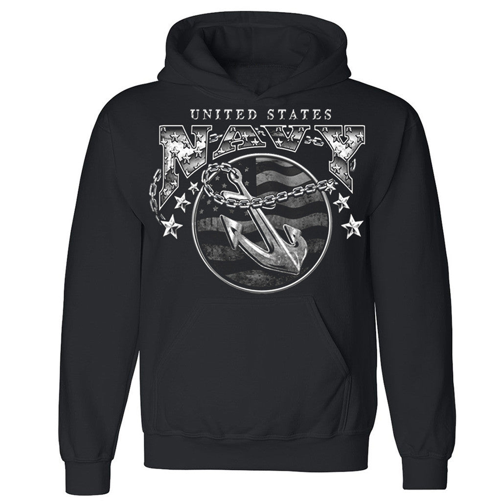 "Zexpa Apparelâ""¢ United States Navy Unisex Hoodie US Army Veteran USA flag Hooded Sweatshirt"