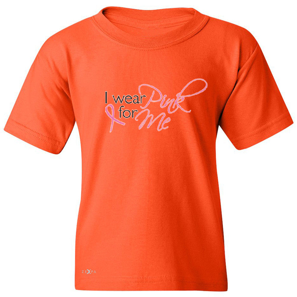I Wear Pink For Me Youth T-shirt Breast Cancer Awareness Month Tee - Zexpa Apparel - 2