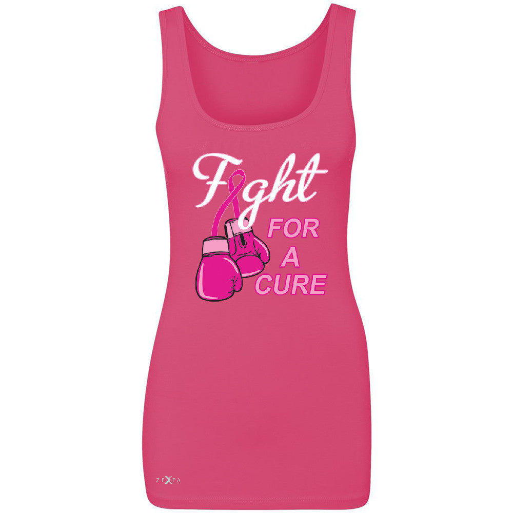 Fight For A Cure Though Girl Women's Tank Top Breast Cancer October Sleeveless - Zexpa Apparel - 2