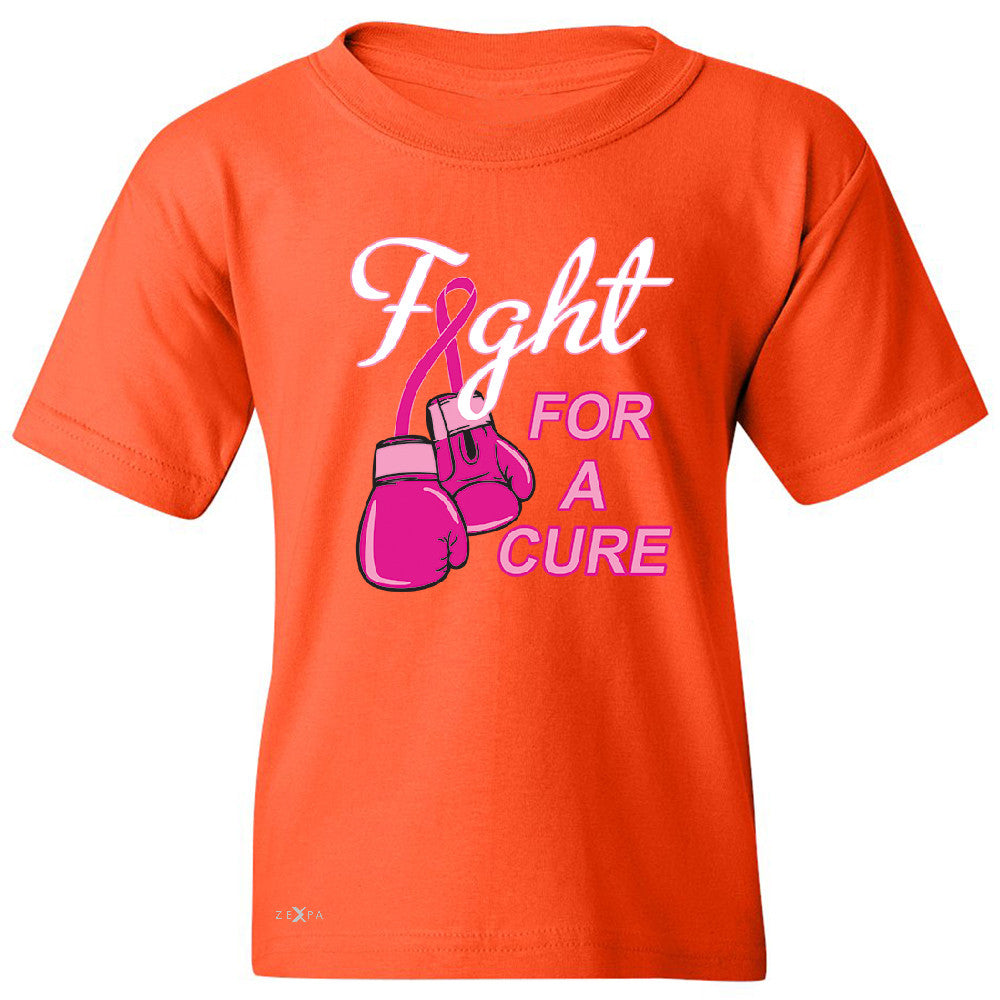 Fight For A Cure Though Girl Youth T-shirt Breast Cancer October Tee - Zexpa Apparel - 2