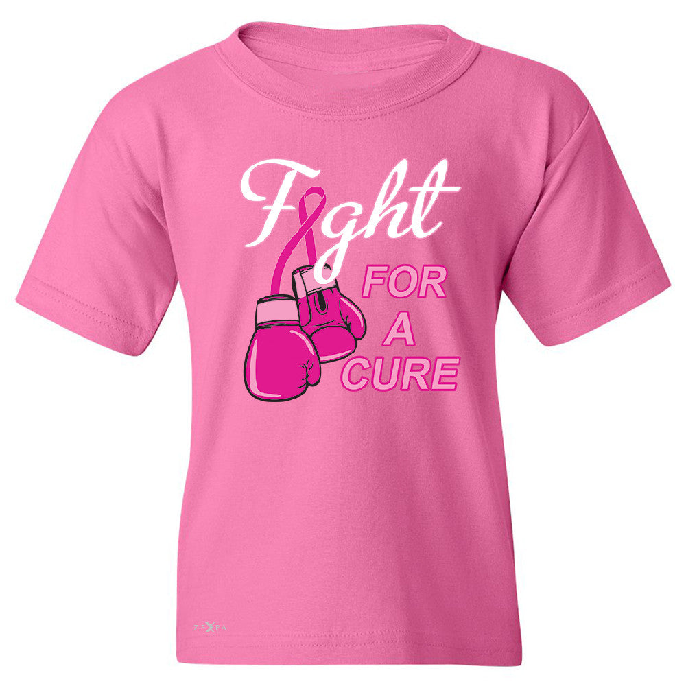 Fight For A Cure Though Girl Youth T-shirt Breast Cancer October Tee - Zexpa Apparel - 3