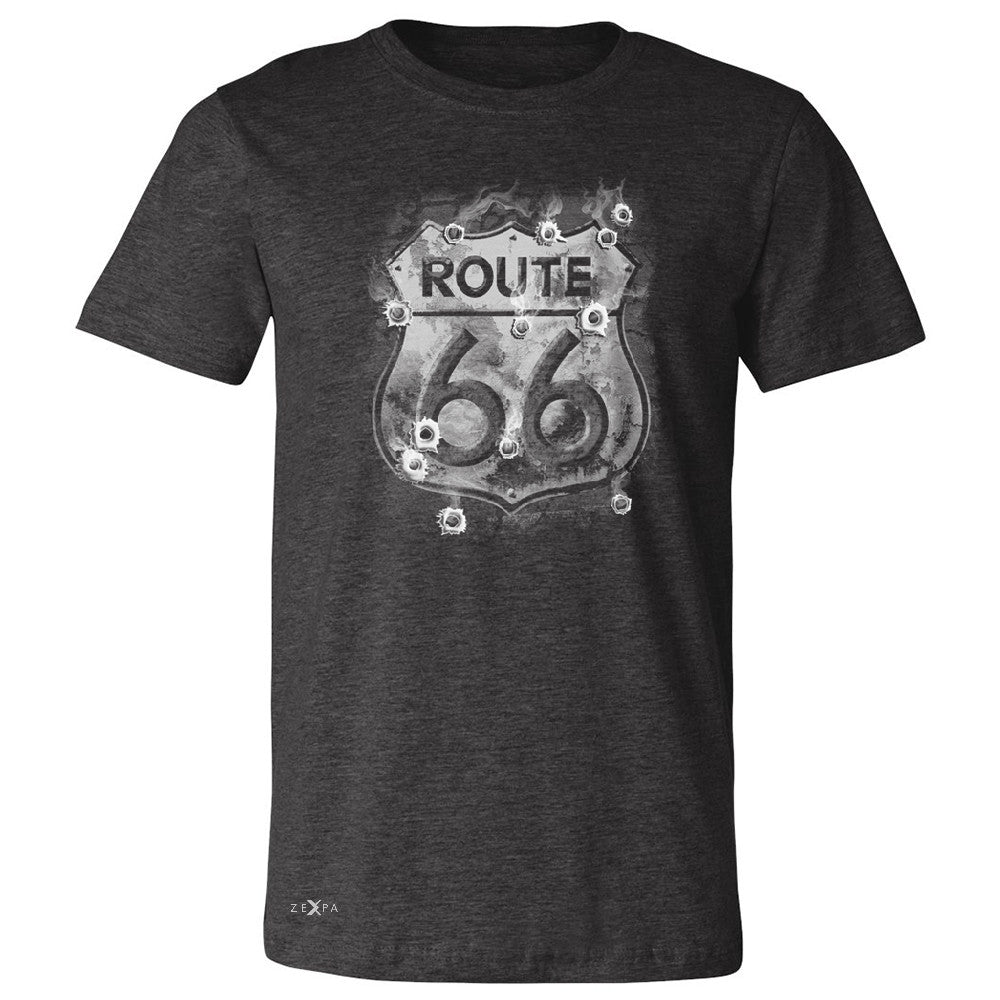 Route 66 Bullet Holes Unisex - Men's T-shirt Highway Sign Tee - Zexpa Apparel - 2