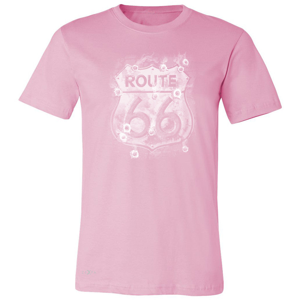Route 66 Bullet Holes Unisex - Men's T-shirt Highway Sign Tee - Zexpa Apparel - 4