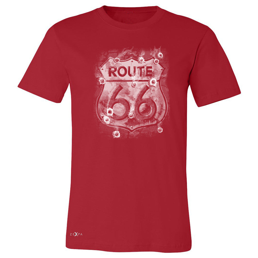 Route 66 Bullet Holes Unisex - Men's T-shirt Highway Sign Tee - Zexpa Apparel - 5