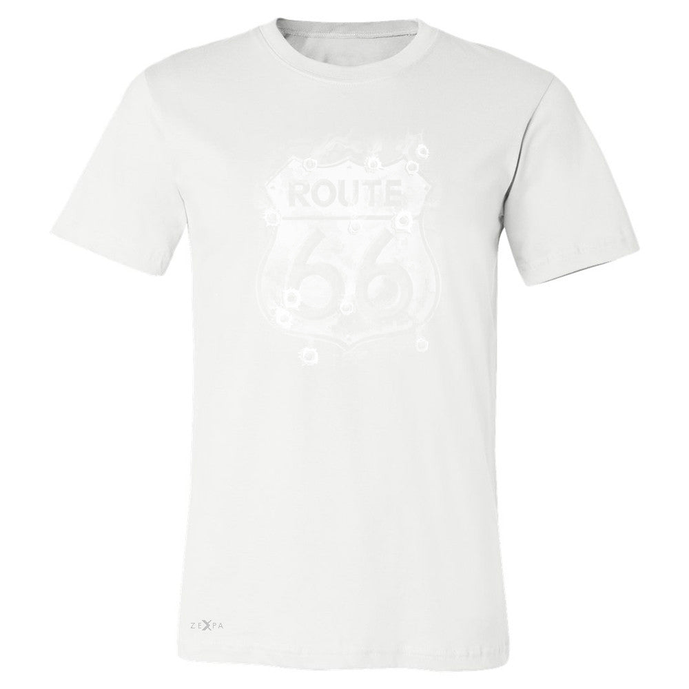 Route 66 Bullet Holes Unisex - Men's T-shirt Highway Sign Tee - Zexpa Apparel - 6