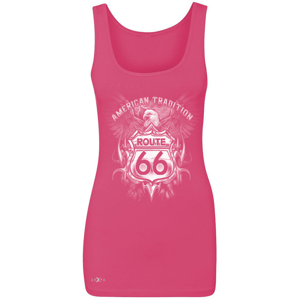 Route 66 American Traditon Eagle Biker - Women's Tank Top Biker Sleeveless - Zexpa Apparel - 2