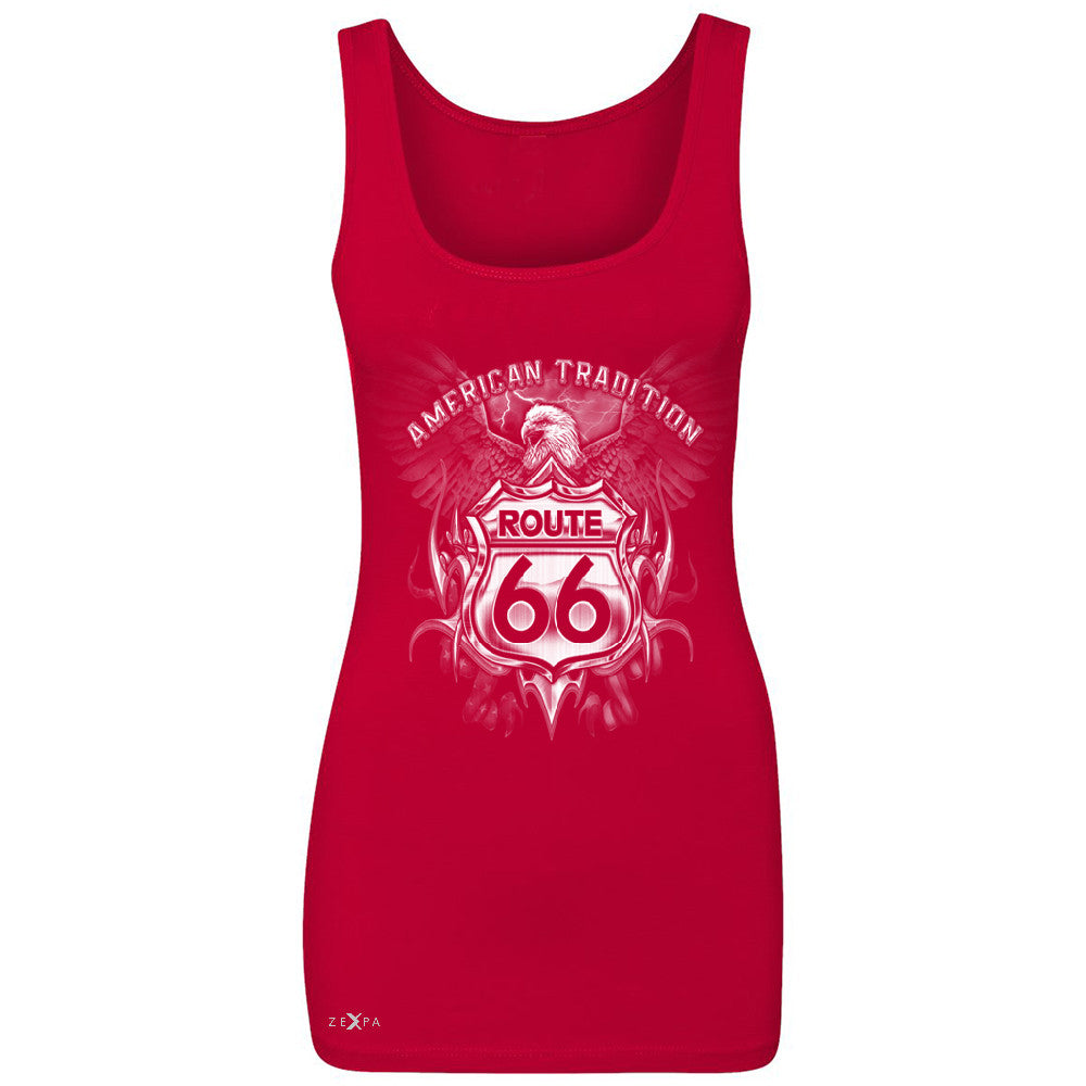 Route 66 American Traditon Eagle Biker - Women's Tank Top Biker Sleeveless - Zexpa Apparel - 3