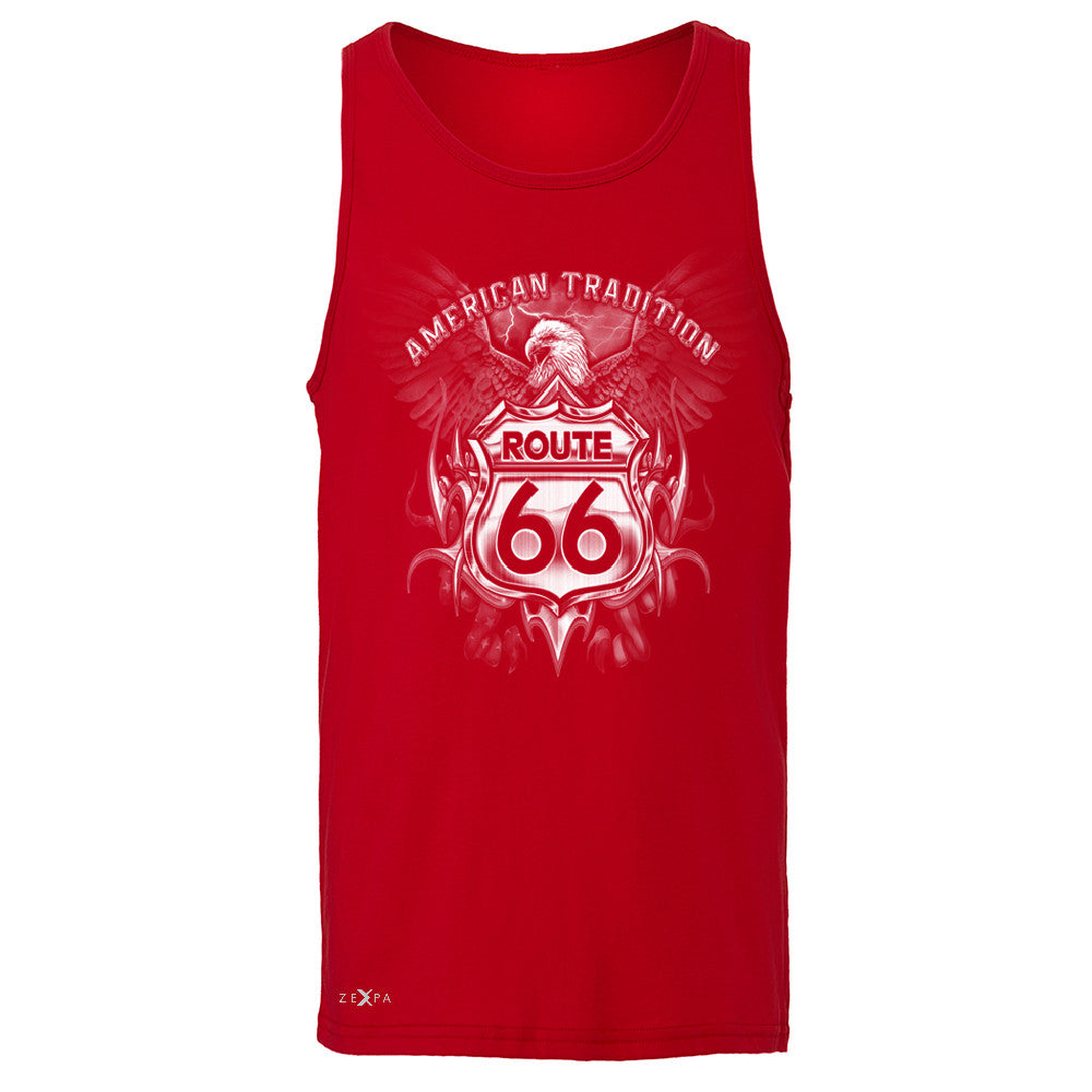 Route 66 American Traditon Eagle Biker - Men's Jersey Tank Biker Sleeveless - Zexpa Apparel - 4