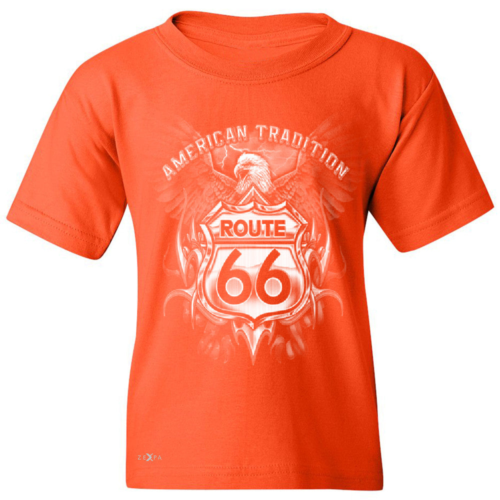 Route 66 American Traditon Eagle Biker - Youth T-shirt Biker Tee - Zexpa Apparel - 2