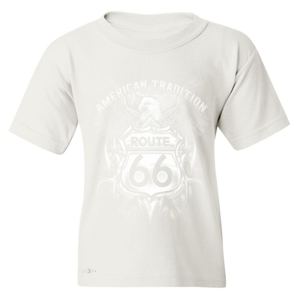 Route 66 American Traditon Eagle Biker - Youth T-shirt Biker Tee - Zexpa Apparel - 5