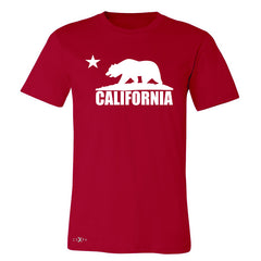 California Bear White Star Men's T-shirt State Flag Cali CA Tee - Zexpa Apparel Halloween Christmas Shirts
