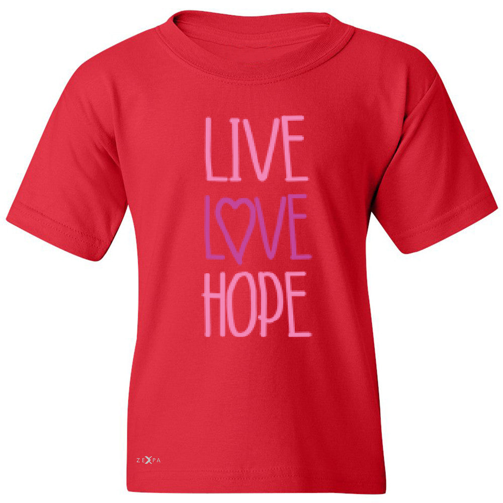 Live Love Hope Youth T-shirt Breast Cancer Awareness Event Oct Tee - Zexpa Apparel - 4