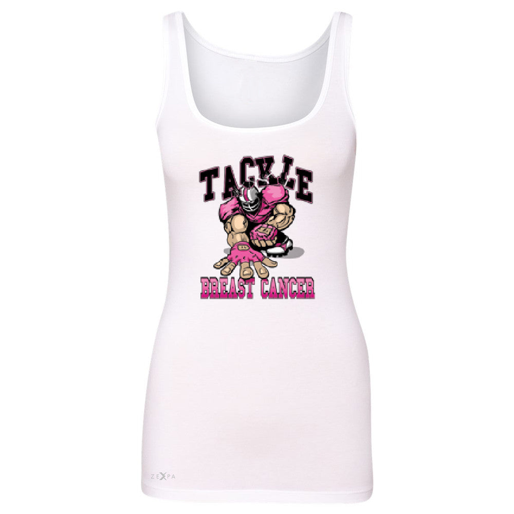 Tackle Breast Cancer Women's Tank Top Breast Cancer Awareness Sleeveless - Zexpa Apparel - 4