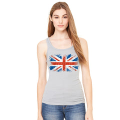 Distressed Atilt British Flag UK Women's Tank Top Patriotic Sleeveless - Zexpa Apparel Halloween Christmas Shirts