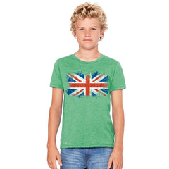 Distressed Atilt British Flag UK Youth T-shirt Patriotic Tee - Zexpa Apparel - 4
