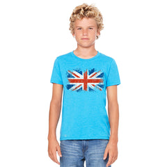 Distressed Atilt British Flag UK Youth T-shirt Patriotic Tee - Zexpa Apparel - 5