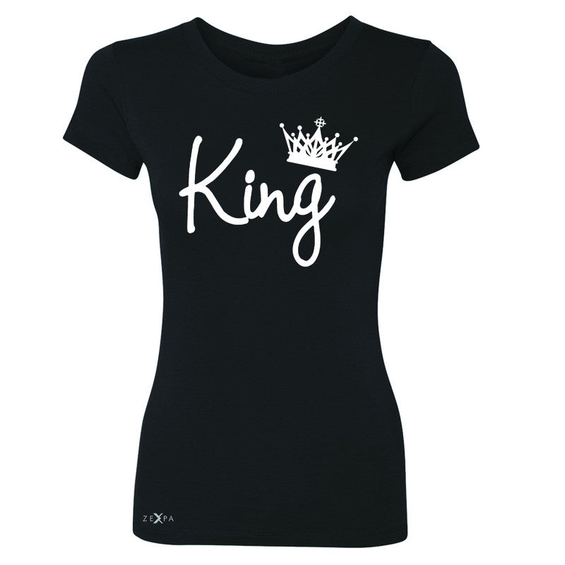 King - He is my King Women's T-shirt Couple Matching Valentines Tee - Zexpa Apparel - 1