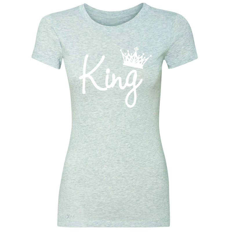 King - He is my King Women's T-shirt Couple Matching Valentines Tee - Zexpa Apparel - 2