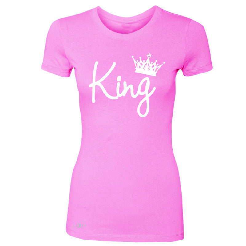 King - He is my King Women's T-shirt Couple Matching Valentines Tee - Zexpa Apparel - 3