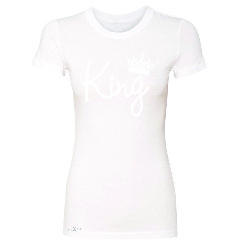 King - He is my King Women's T-shirt Couple Matching Valentines Tee - Zexpa Apparel - 5