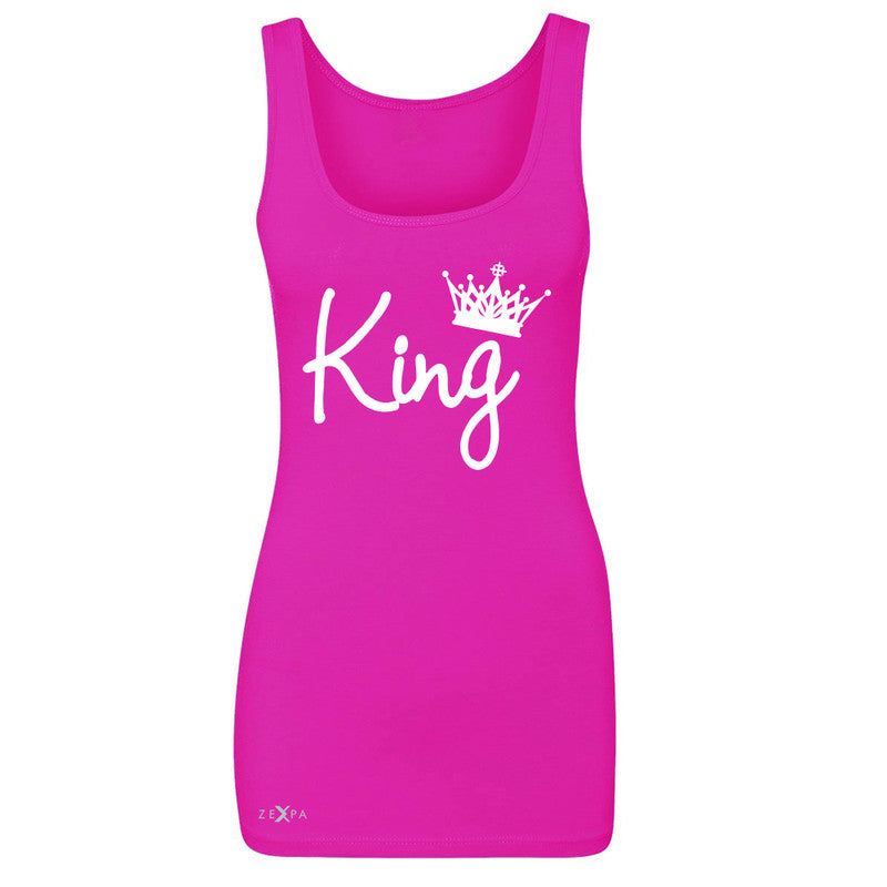 King - He is my King Women's Tank Top Couple Matching Valentines Sleeveless - Zexpa Apparel - 2