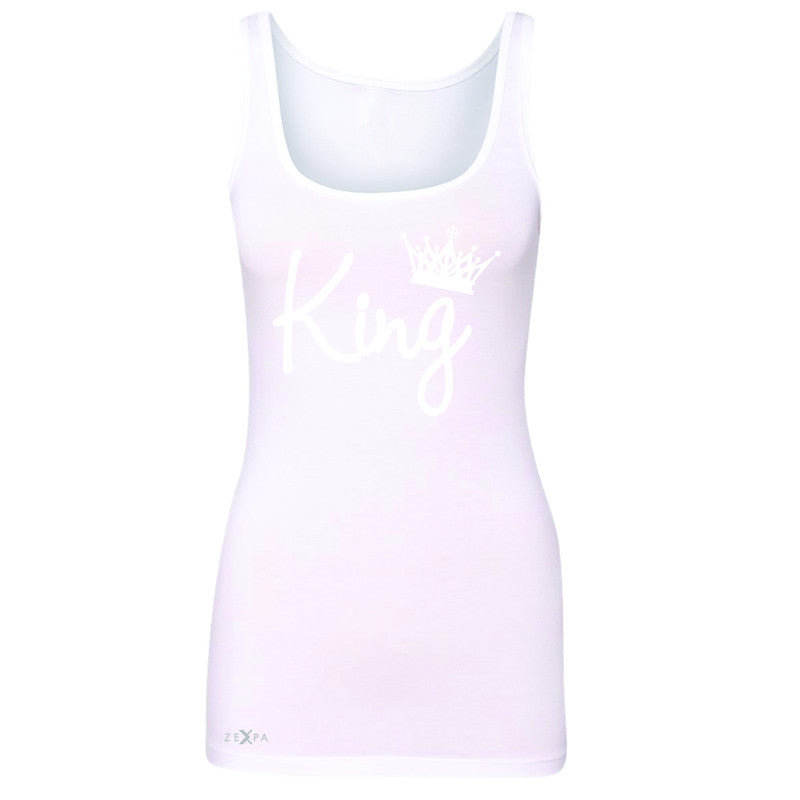 King - He is my King Women's Tank Top Couple Matching Valentines Sleeveless - Zexpa Apparel - 4