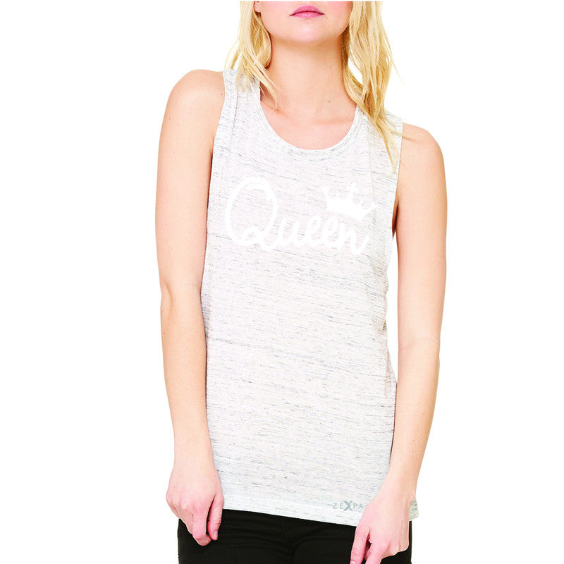 Queen - She is my Queen Women's Muscle Tee Couple Matching Valentines Sleeveless - Zexpa Apparel - 5