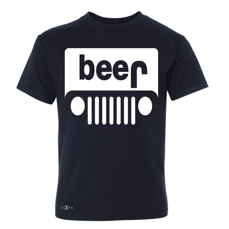 e2a048c9e1 Beer Jeep Funny Youth T-shirt Drinking Off-Road Party Alcohol Tee - Zexpa