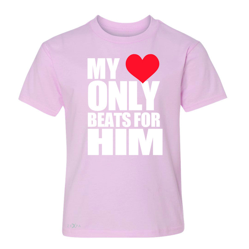 Zexpa Apparel™ My Heart Only Beats For Him Youth T-shirt Couple Matching July Tee - Zexpa Apparel Halloween Christmas Shirts