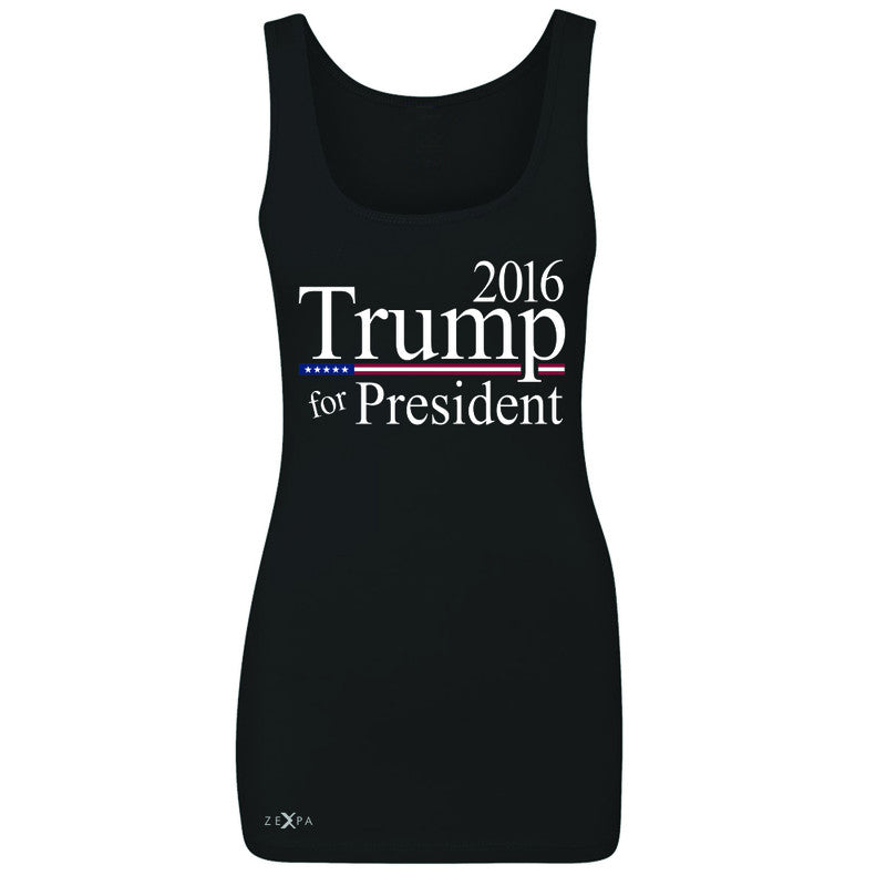 Trump for President 2016 Campaign Women's Tank Top Politics Sleeveless - Zexpa Apparel - 1